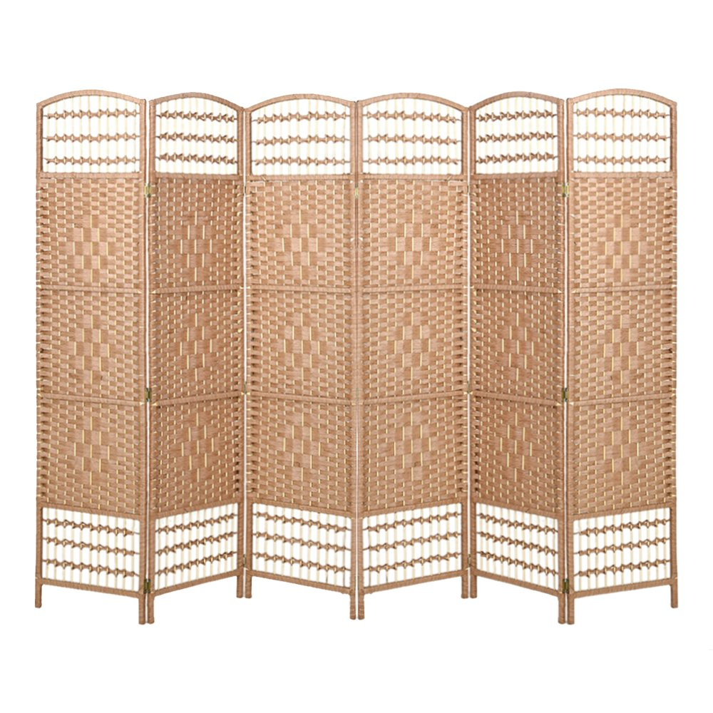 Britoniture Hand Made Wicker Room Divider Separator Privacy Screen Panel Solid Weave (4, Brown) BOCHEN