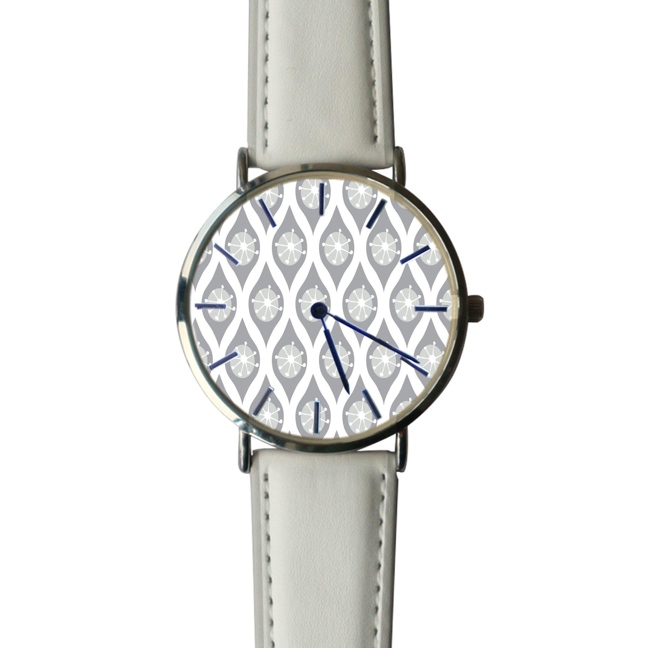 JISJJCKJSX Gray White Mod custom watches quartz watch stainless steel case