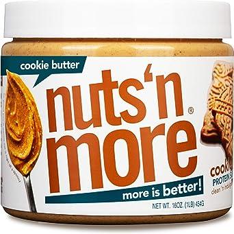 Nuts N More Mantequilla De Galleta Para Untar De Maní, Merienda Saludable De Mantequilla De Nueces Con Alto Contenido De Proteínas Naturales, Frasco ...
