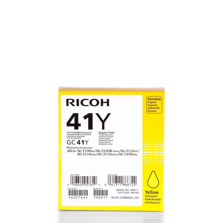 Original Ricoh 405764 / GC-41Y cartucho de gel (amarillo, aprox ...