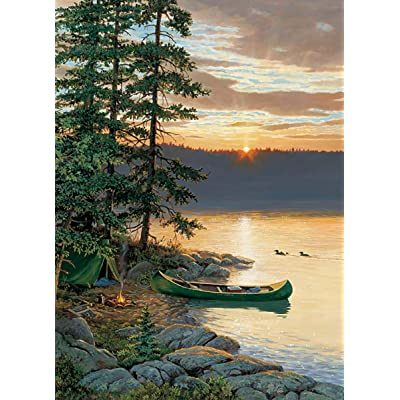 Cobblehill 85018 500 pc Canoe Lake Puzzle, Various: Toys & Games