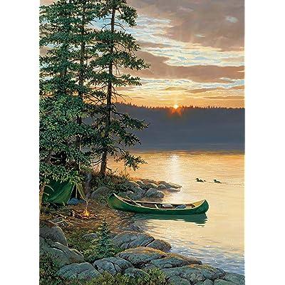 Cobblehill 85018 500 pc Canoe Lake Puzzle, Various: Toys & Games [5Bkhe0305671]