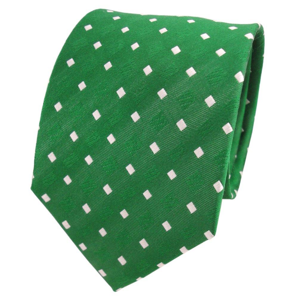 TigerTie diseñador corbata de seda - verde verde esmeralda blanco ...