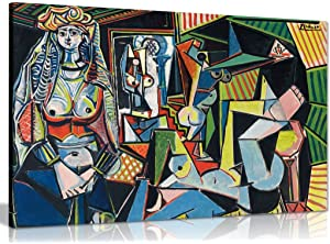 Pablo Picasso Painting Les Femmes DAlger Canvas Wall Art Picture Print (30x20in)
