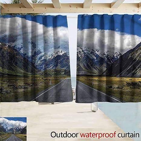 Amazon com : MaryMunger Sliding Door Curtain Mountain South