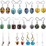 Beadworks Multicolor Glass Combo Of 12 Dangle & Drop Earrings For Girl