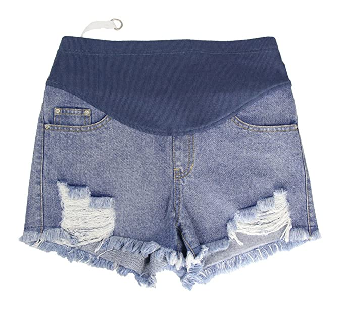 97066de05 Pantalones Cortos de Mezclilla de Las Mujeres Embarazadas ...