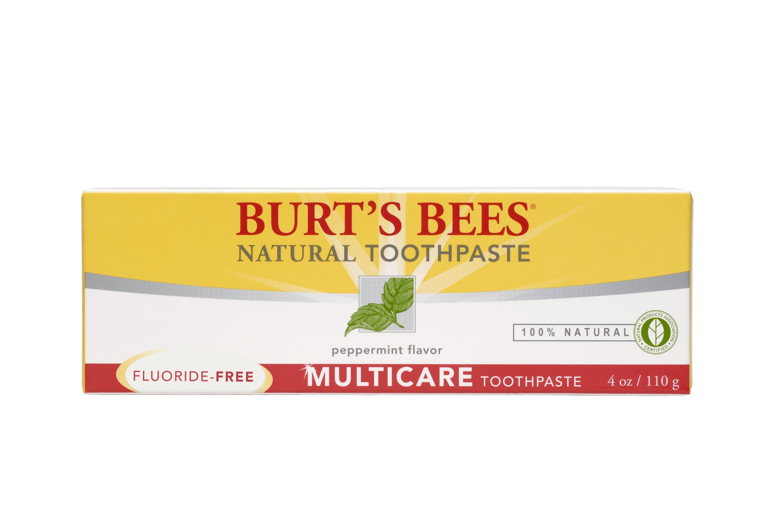 Burt's Bees Natural Toothpaste - Multicare without Fluoride, 4 Ounces (Pack of 4)