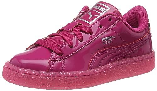 Puma Basket Patent Iced Glitter PS, Zapatillas para Niñas: Amazon.es: Zapatos y complementos
