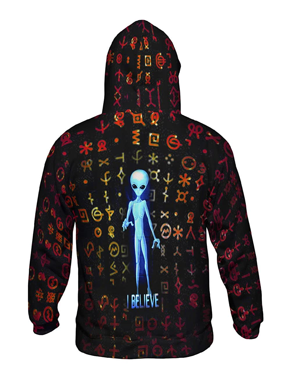 Yizzam Allover Print Mens Hoodie Sweater UFO I Believe