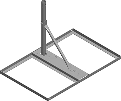 Five J Non Penetrating Roof Mount With Vertical Mast Post