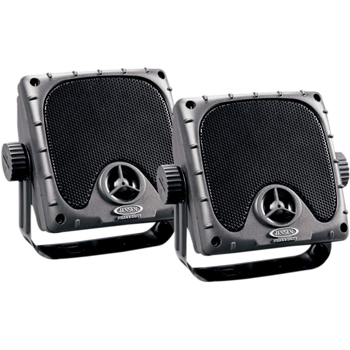 """JENSEN JXHD35 Heavy Duty 3.5"""" MINI Weatherproof Surface Mount Speakers (1 Pair), Black"""