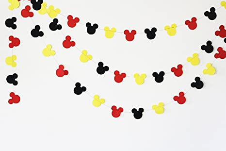 Amazon.com: Mickey Mouse Garland - Paper Garland -Party Supplies ...