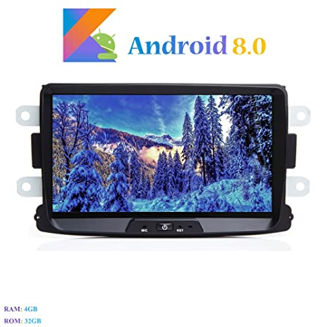 """Android 8.0 Autoradio, Hi-azul 1 DIN 8"""" Radio de Coche 8-"""