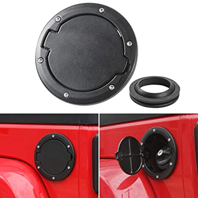 Gas Cap Fuel Door Gas Tank Cover for Jeep Wrangler JK & Unlimited Sport Rubicon Sahara 2007-2020: Automotive