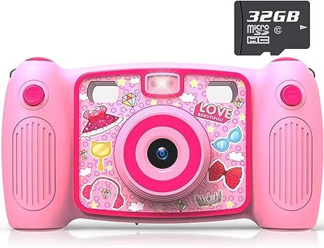 Amazon.com: Cámara de selfie doble AKAMATE para niños, 1080P ...
