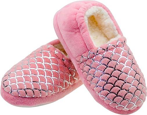 LULEX Girls Slippers Fuzzy Warm House