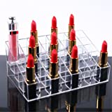 Gospire 40 Space Lipstick Holder, Clear Acrylic Lip Gloss Lipstick Holder Case Display Rack Holder & 40 slots (in a 8 x 5 arrangement) Makeup Organizer