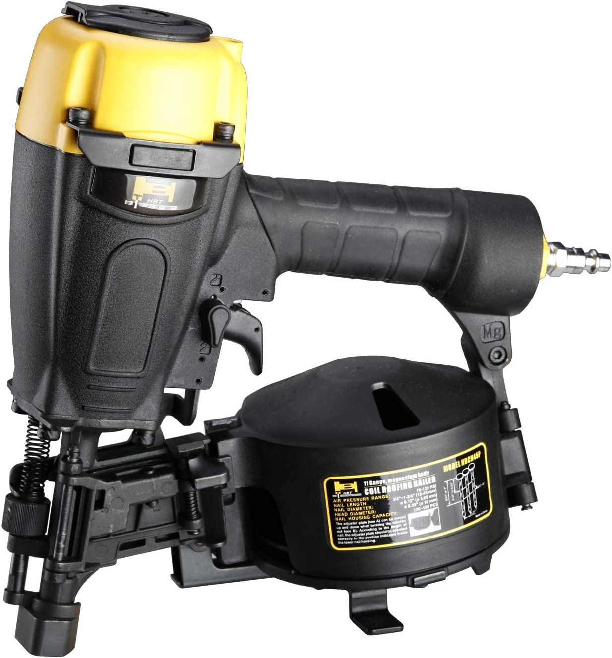 HBT HBCN45P 3 4 to 1-3 4 Coil Roofing Nailer with Magnesium Housing
