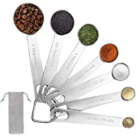 Measuring Spoons set - Stainless Steel Metal Measuring Spoons for cooking baking,Teaspoon Tablespoon Set for Measuring…