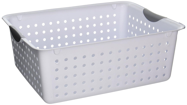 Sterilite Lg Wht Ultra Basket 16268006 Organizers Storage Kitchen 15 7/8 x 12 7/8 x 6 inches ; 1.1 pounds