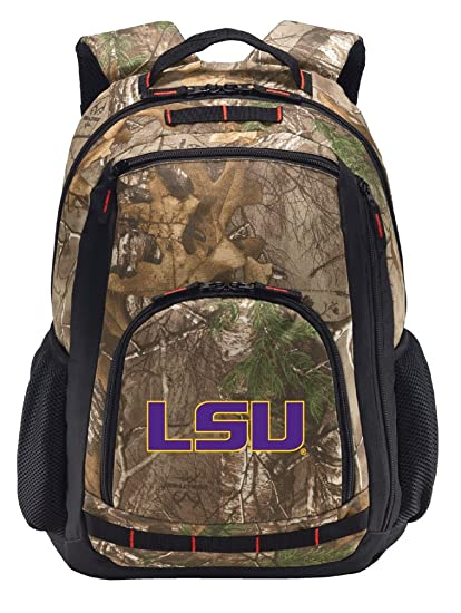 876edce0858a Image Unavailable. Image not available for. Color  Broad Bay LSU Tigers Camo  Backpack Realtree ...