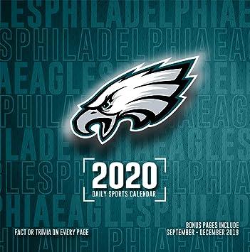 Eagles Tour Dates 2020.Amazon Com Philadelphia Eagles 2020 Calendar Office Products