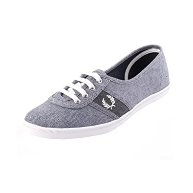 Fred Perry Aubrey Slip Ons Carbon Blue White Sneaker damen
