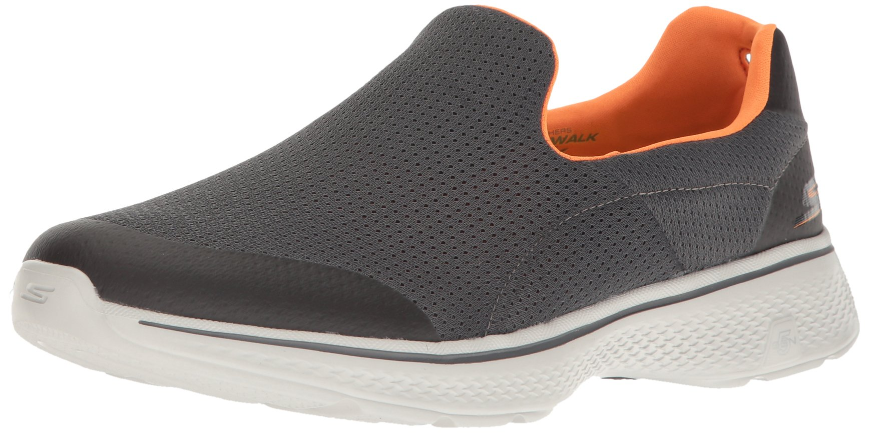 Skechers Performance Men's Go Walk 4 Incredible Walking Shoe, Charcoal/Orange, 10 M US