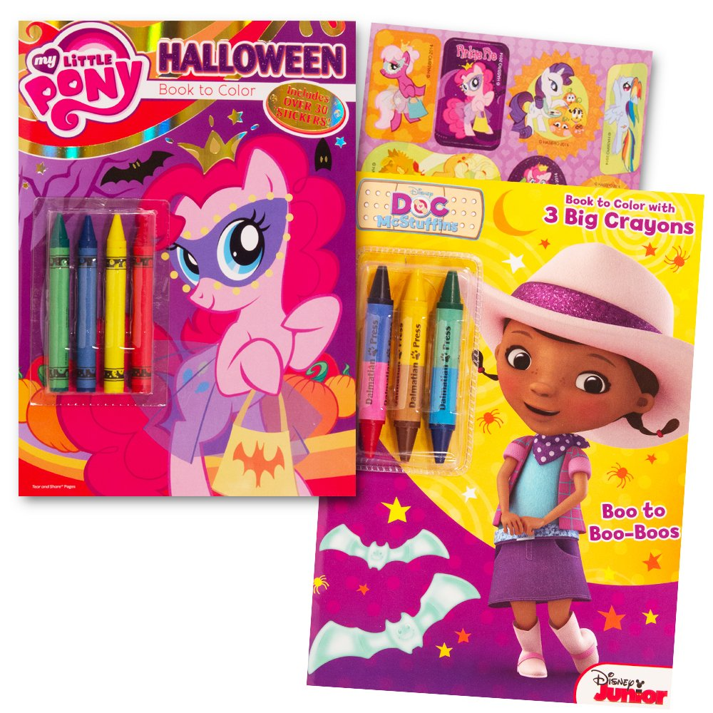 Amazon.com: My Little Pony Halloween Coloring Book Set with Crayons ...