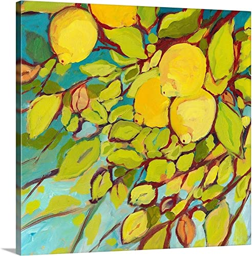 The Lemons Above Canvas Wall Art Print