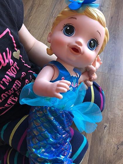 Baby Alive Shimmer 'n Splash Mermaid (Blonde Hair) Great gift
