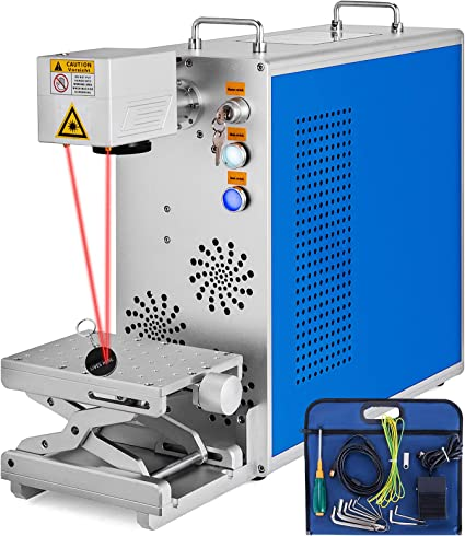 Superland 20W Fiber Laser Marking Machine 110mmx110mm Fiber Laser Engraver Marking Machine Maker & Rotary Metal & Non-metal (20W 4.3x4.3 Inch)