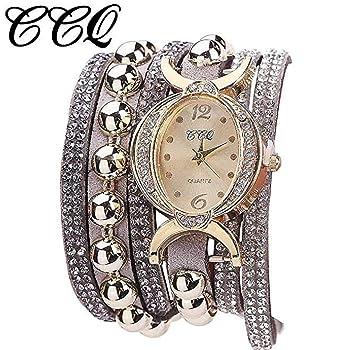 Reloj de pulsera para mujeres, de moda, de cuarzo, con diamantes de imitación para mujeres, jóvenes, reloj económico para mujer Y5, de Ichq.: Amazon.es: ...