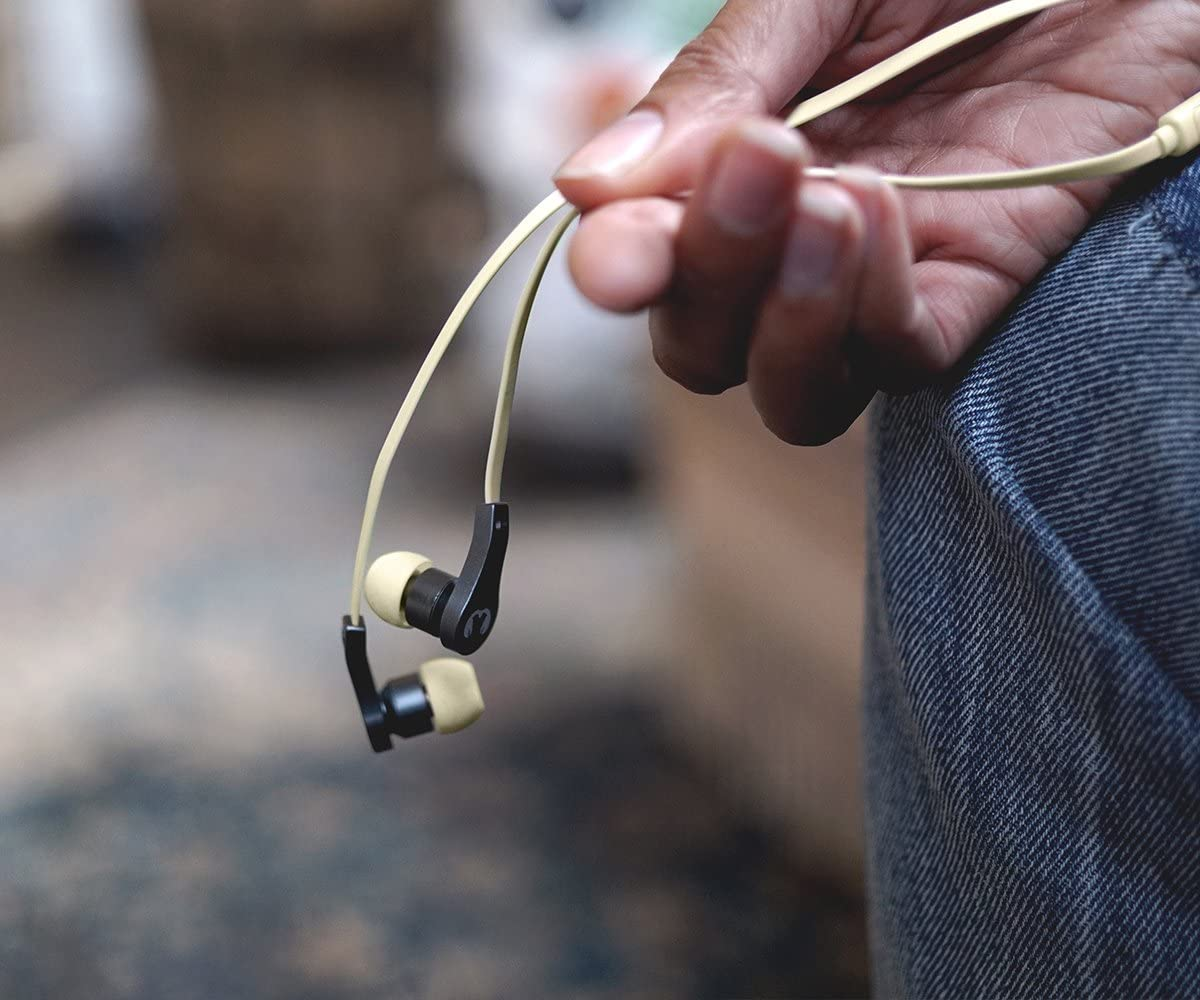 Fresh 'n Rebel Earbuds LACE Peppermint | Wired In-Ear Headphones Buttercup