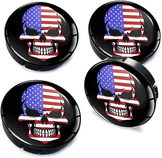 Biomar Labs 4 X 60mm Silikon Nabenkappen Usa Amerika America Amerikanische Flagge Kappen Felgendeckel Radkappen Radnabendeckel Nabendeckel Auto Tuning C 93 Auto