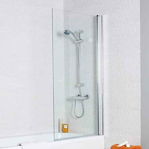 Kartell Koncept Single Panel Square 6mm Bath Shower Screen: Amazon ...
