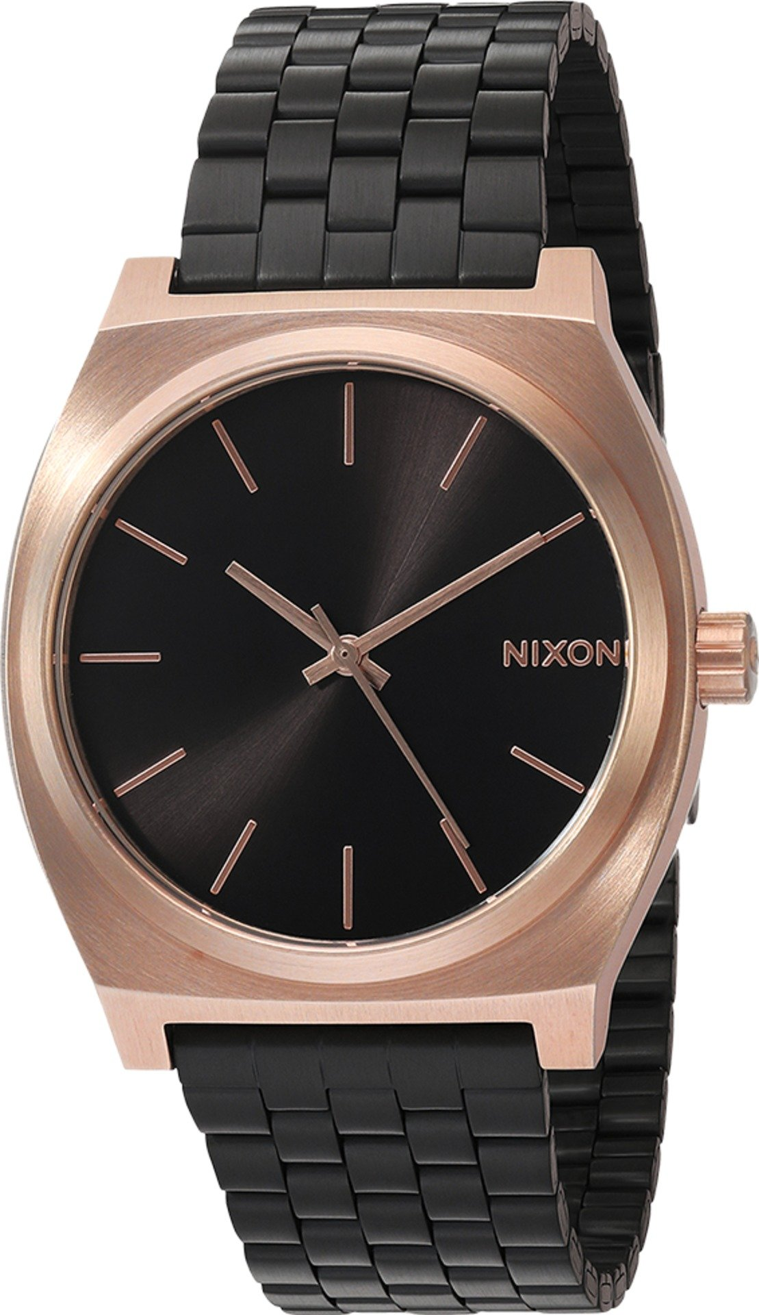 Nixon Women's 'Time Teller' Quartz Metal and Leather Watch, Color:Pink (Model: A0452481-00)