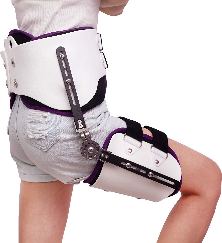 WANGXN Hip Ajustable Conjunta Brace luxación de Cadera Ortesis de Abducción de fijación de la bisagra de la Cintura Ajustable Aparato ortopédico de Pierna Lesiones de fémur,Right