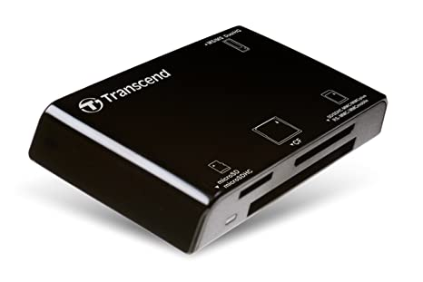 Transcned RDP8 - Lector de Tarjetas, conector USB tipo A, ranura SD, microSD, MS y Compact Flash