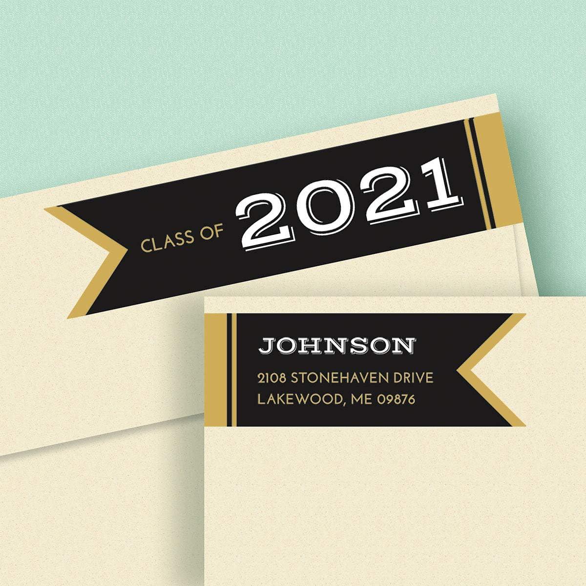 Personalized Sticker Labels Graduation Address Labels 2019 Graduation Envelope Labels Bright Future Party Supplies 30 Ct.