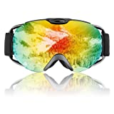 Ski Goggles- Double Lens OTG Skiing Goggles with Anti-frog and 100% UV Protection Professional Ski Snowboard Goggles for Men Women Ladies Teenager
