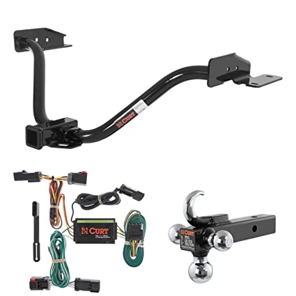 amazon com curt trailer hitch, wiring & w tow hook ball mount for 2006 chrysler pacifica trailer wiring harness curt trailer hitch, wiring & w tow hook ball mount for 04 08