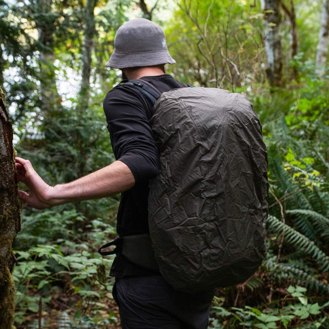 Green or Olive or Large Medium Small 100/% Waterproof Backpack Cover 20-40L // 1200-2400 cu.in Aqua Quest Wingman Green, Small