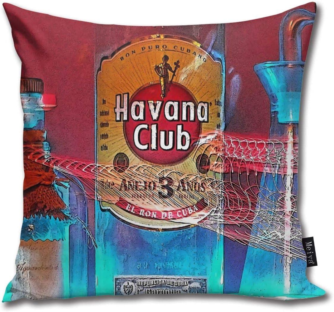 BLUETOP Havana Club Pillow Cover, 18 x 18 Inch Winter Holiday ...