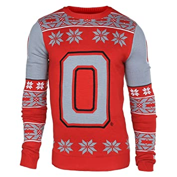 Amazon.com : Ohio State Buckeyes Logo Ugly Christmas Sweater - S ...