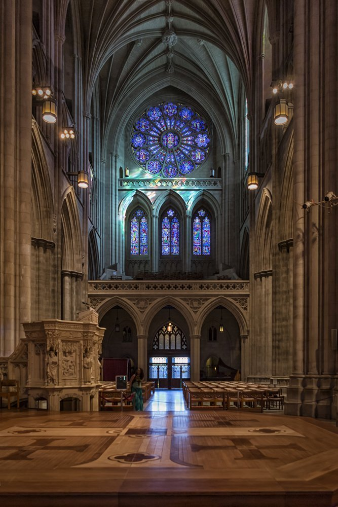 '' National Cathedral_Stained Glass Window ''