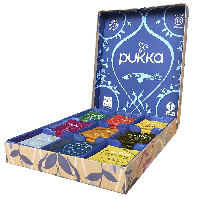 Pukka Herbs Tea Selection Luxury Gift Box, Collection of Organic, Herbal Teas, 45 Count
