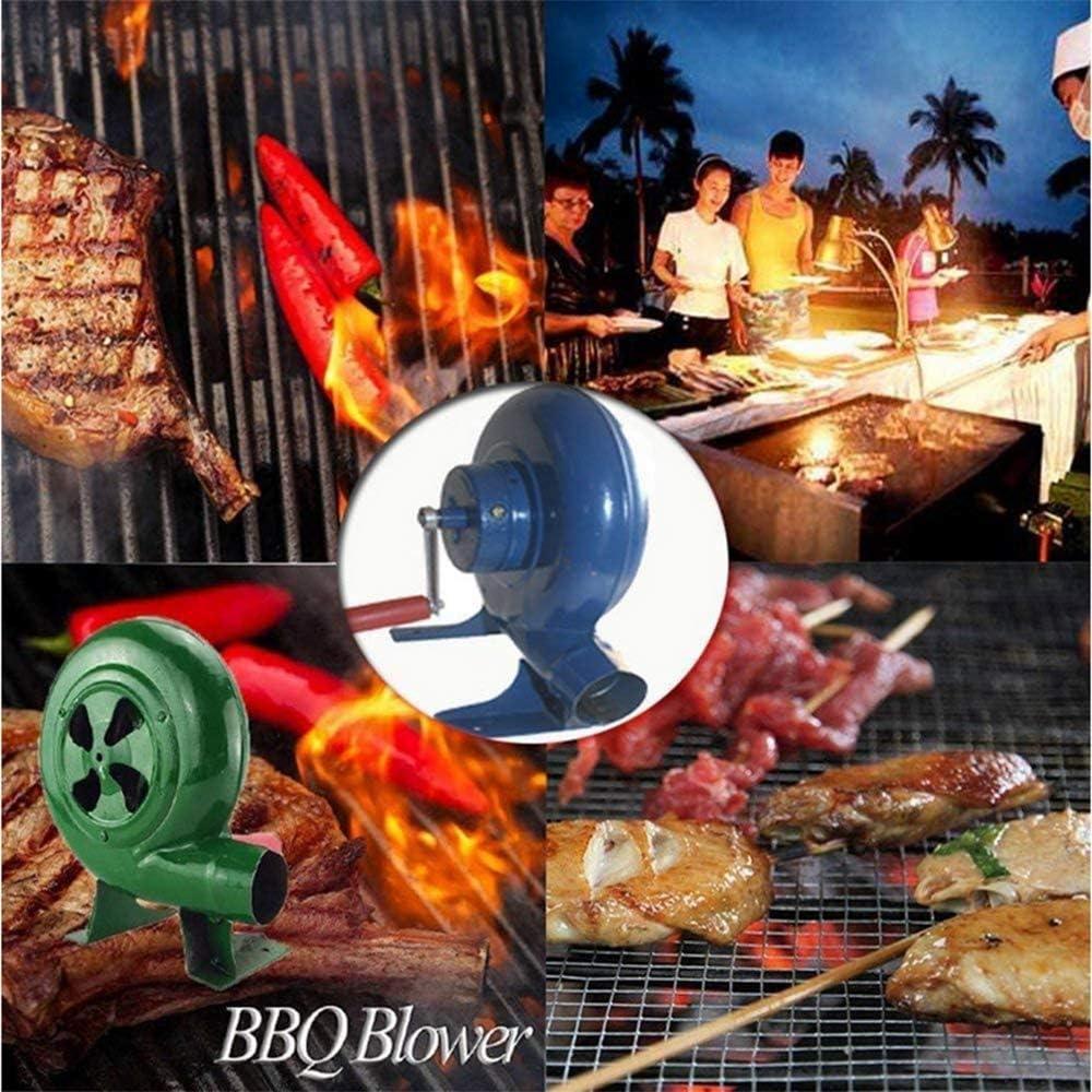 AFDK Bbq Fan Top Forge Manuel Blower MANIVELLE Soufflet manuel Cuisine de plein air bbq Ventilateur Blower pour Camping/pique-nique/extérieur Acativities, 350W,150W 300w