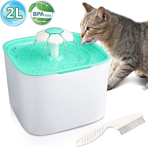 Gifort Fuente de Agua para Mascotas, Fuente de Agua Silenciosa ...